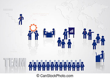 Teamwork for business concept