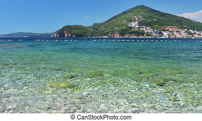 Coast of the Adriatic Sea, Budva opposite the island of St...
