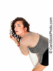 Girl with chainmail blouse.