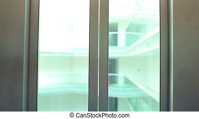 Elevator - modern elevator going down