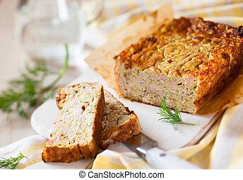 Zucchini Terrine - Zucchini and Turkey Ham Terrine