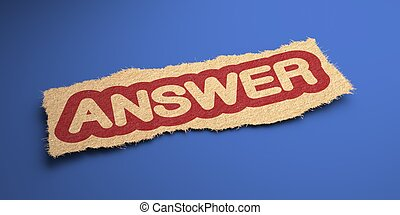 Answer Business Concept - Answer Word of Rough Paper,...