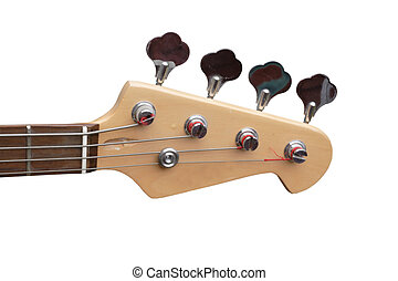 bass guitar - close up of a head of a bass guitar isolated...