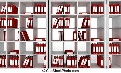 Office cupboard with folders