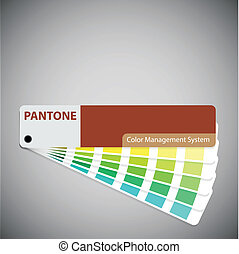 pantone catalog of type text. eps 10 vector