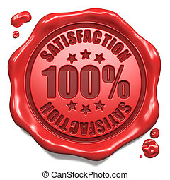 Satisfaction - Stamp on Red Wax Seal. - Satisfaction - Stamp...