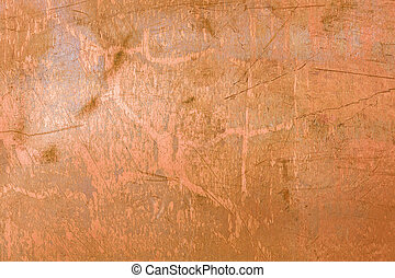 Copper metal - Old grungy copper plate background
