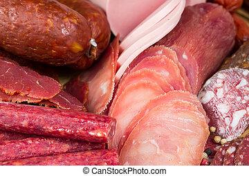 sausages close up