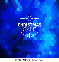 Christmas sale abstract blue background - Christmas sale...