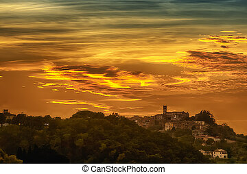 Romantic Tuscany clouds - Romantic clouds in a Tuscany...