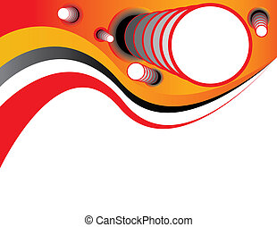 Telescopic shapes are featured in an abstract vector...