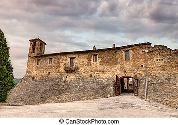 castle of Torre del Colle, Umbria, Italy - entrance to the...