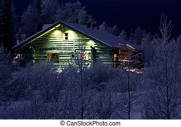 Winter night in Lapland - Lapland, Levi