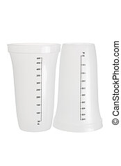 Measuring Cups on White Background