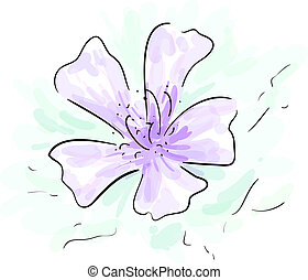 Flower sketch - Eps 10 vector colorful graphic violet flower...