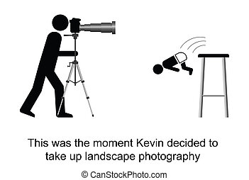 Photographer - Kevin decided to take up landscape...