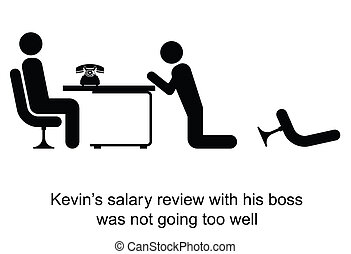 Salary Review - Kevin salary review was not going too well...