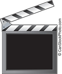 Clapboard - A film slate or clapboard with an empty space...