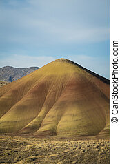 Desert shapes and colors, Painted Hills, Oregon - Abstract...