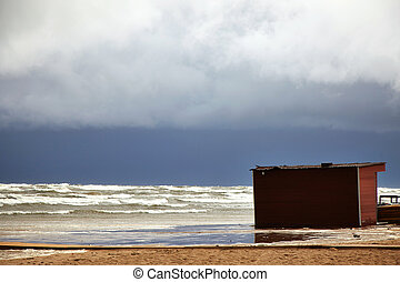 Stormy sea - view of stormy sea
