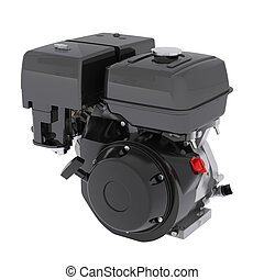 Small engine. Isolated 3d render on white background