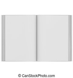 Open white book - Open book 3d render isolated on white...