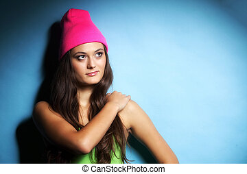 Portrait of beautiful young sporty active woman
