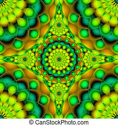 Psychedelic Visions - Digital art abstract background...