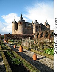 castle7307 - Dutch medieval castle with vegetable garden.