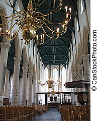church3935 - Interior gothic church in Holland.