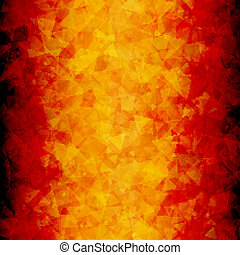 Fiery abstract scattered triangle background - Abstract red...