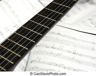 Guitar and music score