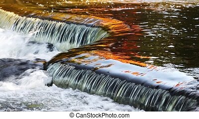 Bond Falls Autumn Reflection Loop - Loop features water...