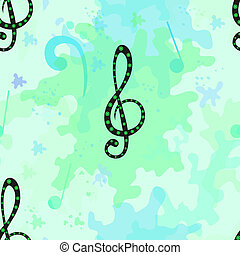Musical seamless pattern - Beautiful vector musical seamless...