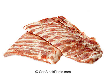 Spare ribs - Raw spare ribs on white background