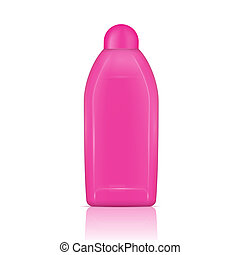 Pink vanishing liquid bottle. - Pink plastic bottle for...