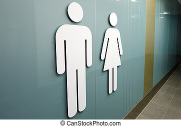 Toilet signs  - Men and women toilet signs.