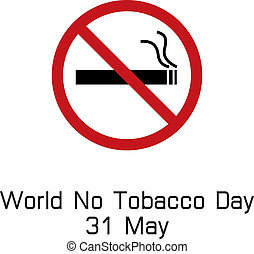 world no tobacco day smoking logo