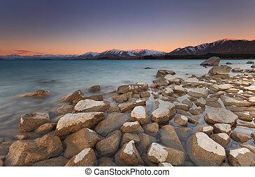 Enchanted Sunset at Lake Tekapo
