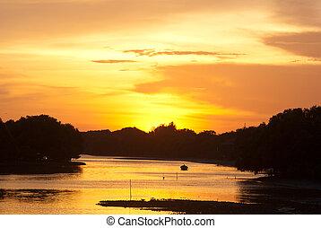 Romantic sunset - Beautiful and Romantic sunset in Thailand...
