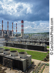Production line in thermal power plant.