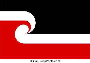 maori flag - very big size maori people republic flag