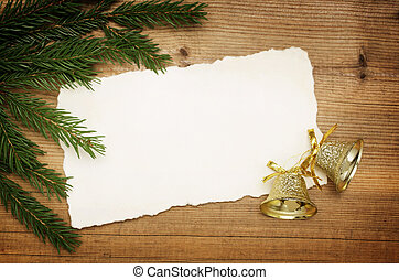 Blank Old Paper Sheet with Decoration