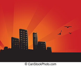 Sunset City Background