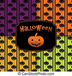 Halloween pumpkins seamless pattern
