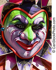 Carnival Jester - Detail from a float at the International...