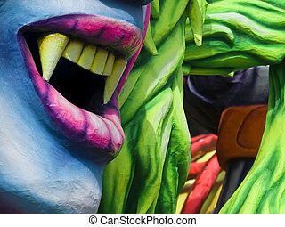 Vampire Fangs - Detail from a float at the International...