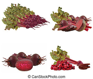beetroots - beets on a white background