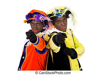 zwarte pieten (black pete) - zwarte pieten.clipping path...