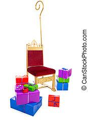 sinterklaas, Geschenke, Stuhl